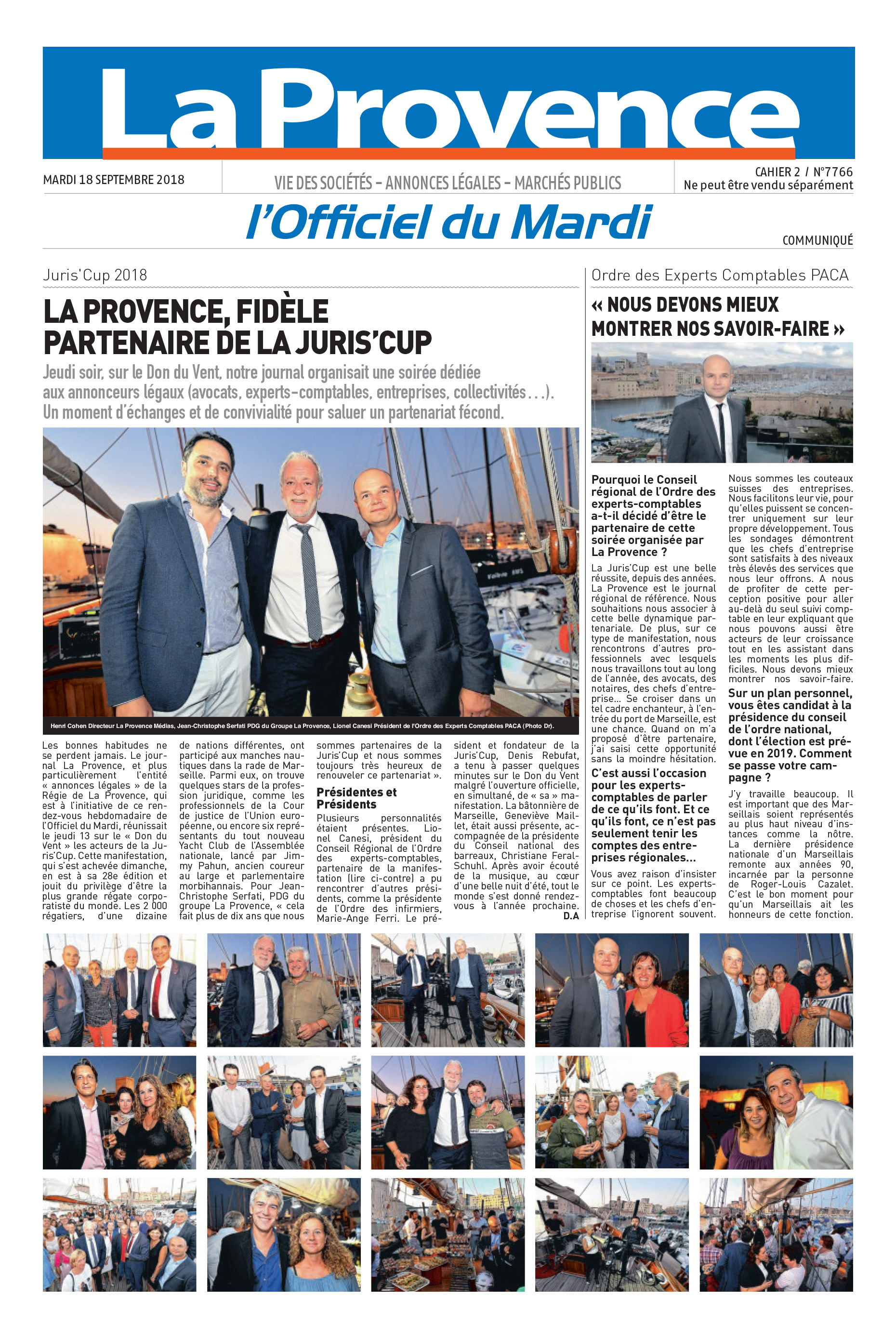 Expert Comptable - La Provence - JurisCup2018