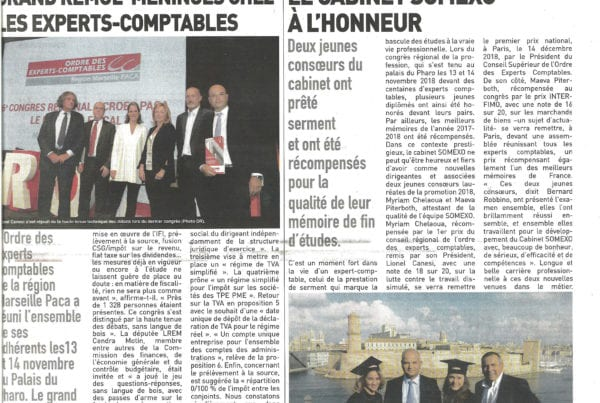 Expert Comptable - LaProvence-RemisePrixCongresRegional